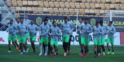La sélection algérienne A' à l'entraînement à Cadix (photo faf.dz)