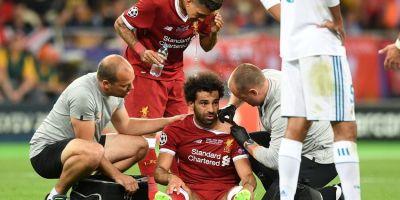 Mohamed Salaha blessé lors de la finale de LDC ( photo liverpool.com )