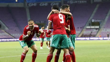 Le Maroc ici contre  la Slovaquie (2-1) en amical