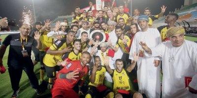 Al Suwaiq SC  champion  d'Oman 2018 (photo omanobserver.com)