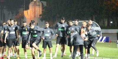 Les Fennecs lors du stage de préparation du match contre le Cap Vert (photo faf.dz)