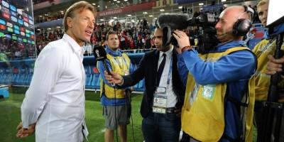 Hervé Renard à  la fin du match Maroc -Espagne (2-2), photo Fifa.com