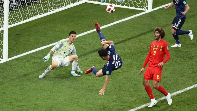 Marouane Fellaini égalise  (2-2) face au Japon (photo Fifa.com)