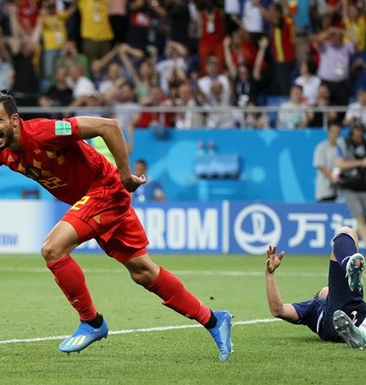 Nacer Chadli offre le but du quart aux Daibles Rouges (photo Fifa.com)