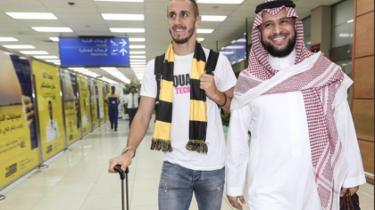 Pesic à son arrivée à Jeddah