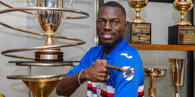 Omar Colley, défenseur de la Sampdoria et capitaine des Scorpions ( photo Sampdoria.com )