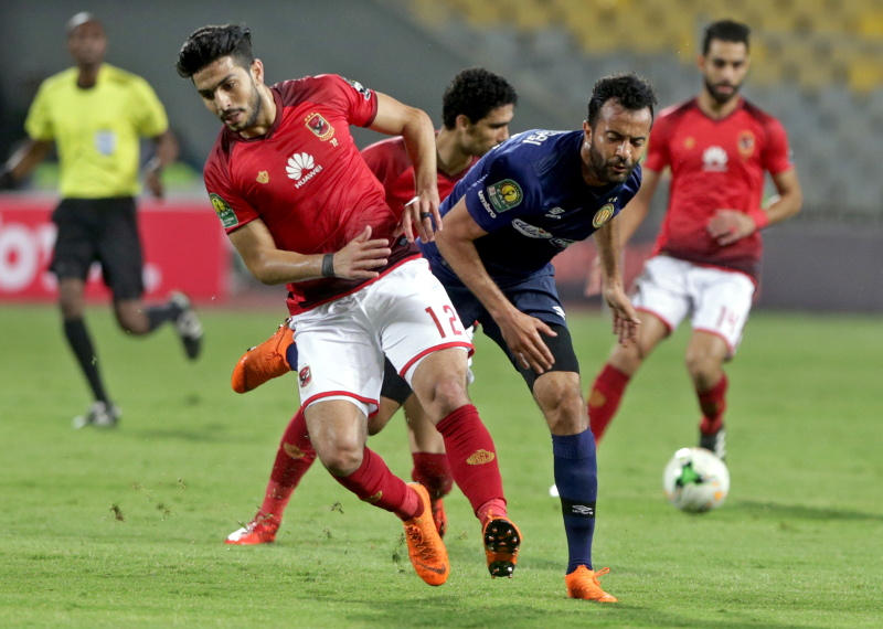 LDC: Al Ahly - ES Tunis  ( 0-0)  lors du match aller de la phase de groupes au match aller. Photo cafonline.com