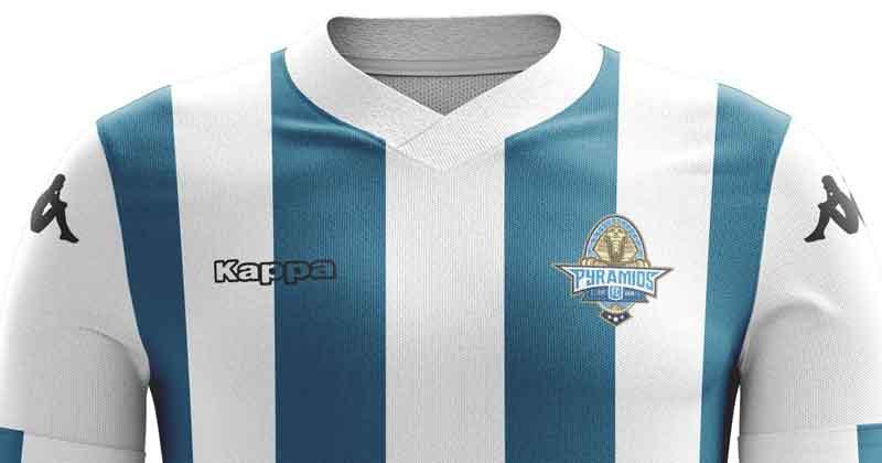 """Le maillot """"Bleu et Blanc """"  des Pyramids FC bientôt aussi célèbre que celui des """"Red Devils ?"""