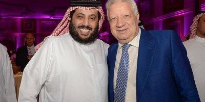 Turki El Sheikh le puissant boss de l'UAFA  en compagne de Mortada Mansour le boss du Zamalek