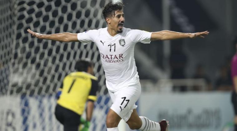 Baghdad Bounedjah, meilleur buteur de la LDC (12 buts) a envoyé Al Sadd en demie. (photo afc.com)