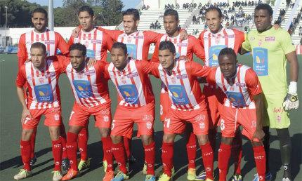 Hassania Agadir  à un point de la qualification
