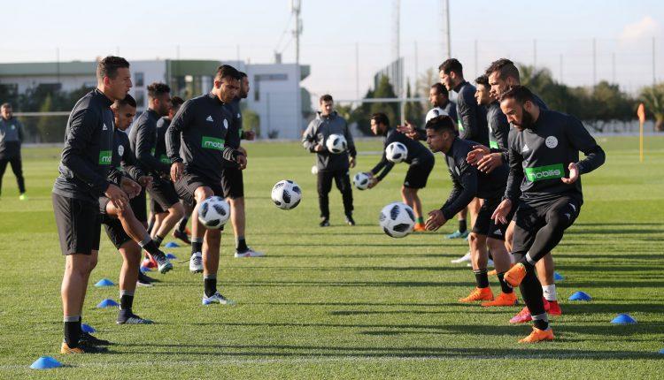 l'équipe algérienne A' en stage en mais 2018 (photo faf.dz)