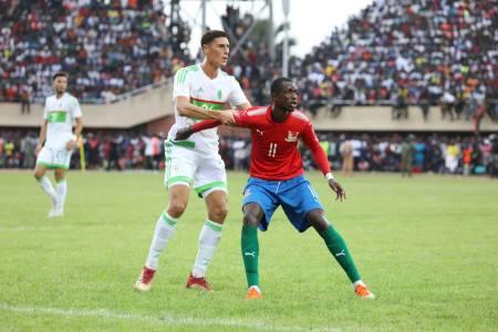 Face à la Gambie (photo match aller), l'Algérie de Belmadi veut finir en beauté