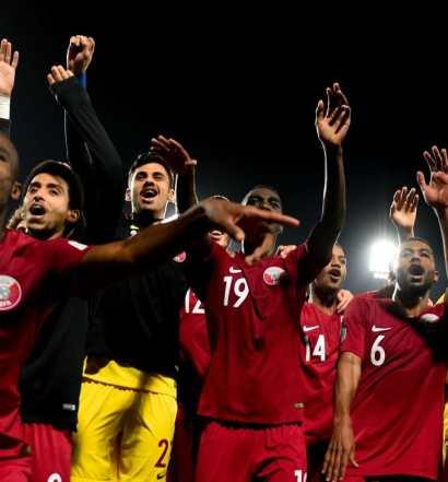 Les Qatari prêts à se dépouiller pour une place en demie ( photo afc;com)