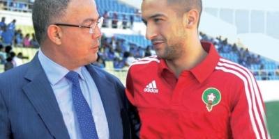 Fouzi Lekjaa en compagnie de Hakim Ziyech