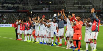 Asian CUP 2019: Le  ouf de soulagement des Emirats après leur succès devant l'Inde  (photo afc.com )