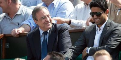 Nasser Al-Khelaifi (ici avec le président  du Real, Florentino Perez)