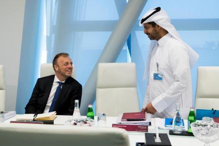 Nasser Al Khater  et  Collins Smith ( photo qfa.qa)