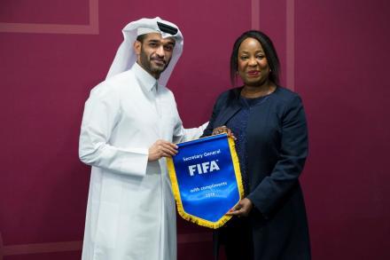 Hassan Al Thawadi  et Fatima Samoura ( photo qf.qa)