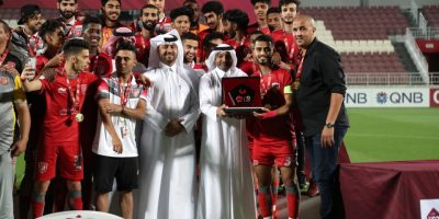 Madjid Bougherra Entraîneur d' Al Duhail U23 sacrée championne  de la Qatar Stars League U23  (photo qfa.cqa)