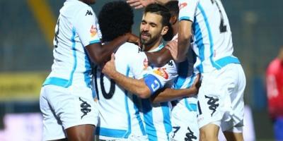 Pyramids FC : les joueurs heureux après leur victoire face au Ahly (2-1) en janvier  dernier