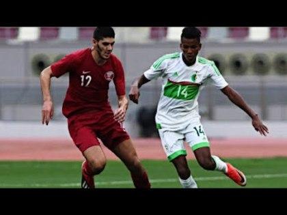 Hichem Boudaoui, ici face au Qatar, sa première sélection  avec les Fennecs