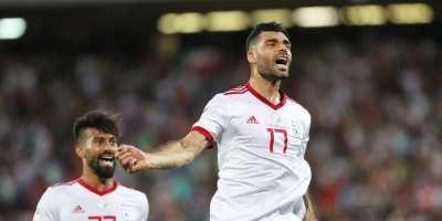 Mehdi Taremi ; un triplé  de l'Iranien face à la Syrie  (photo afc.com )