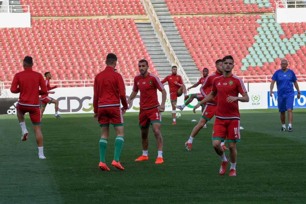 Maroc U23 à l'entraînement  (photo frmef.ma)