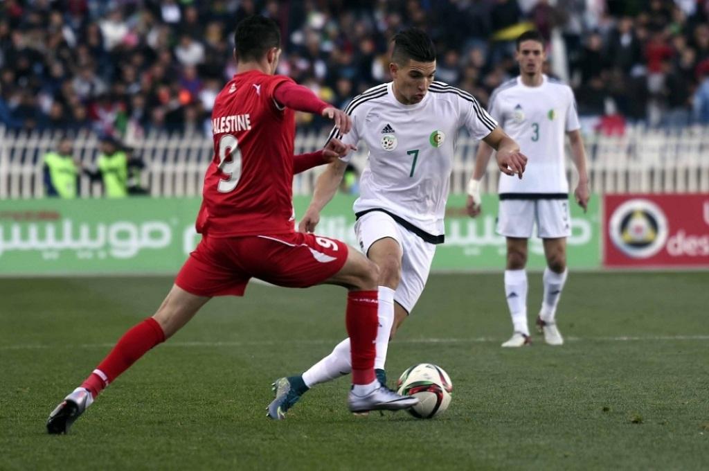 Avec les Olympiques algériens fco à la Palestine (0-1)