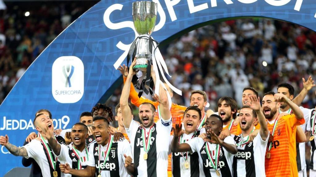 Juventus - Milan AC  , la Super Coupe  d'Italie disputée à Jeddah en 2019