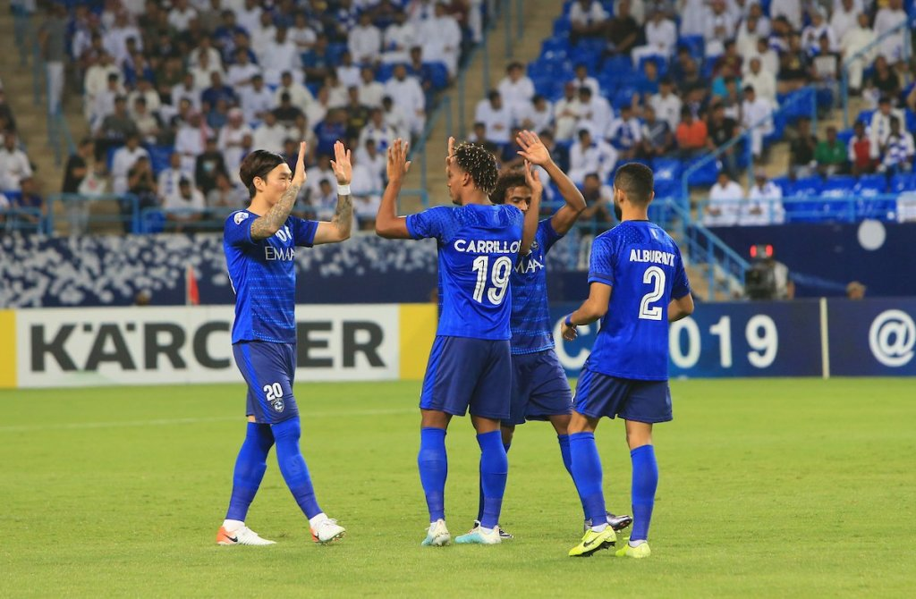 Al Hilal fête se qualification  (photo afc.com)