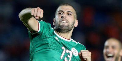 Slimani  lors d' Algérie - Bénin  (1-0)