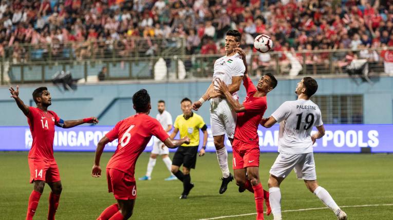 La Palestine dominée  par Singapour (1-2, photo afc.com)