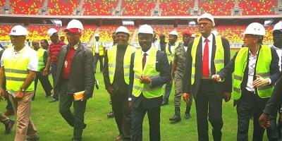 Visite de la Commission d'inspection de la CAF au  Cameroun (photo culture Mboa, Cameroun )