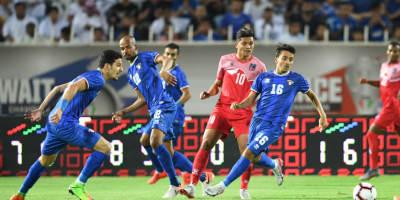 Le Koweït (en bleu)  face au Népal (0), photo afc.com
