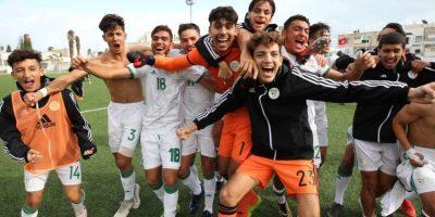 Les U20 algériens après leur succès face au Burkina Faso (2-1), photo faf.dz