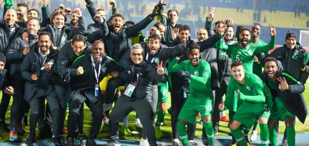 Arabie Saoudite , la joie après un succès en Ouzbékistan ( photo afc.com)