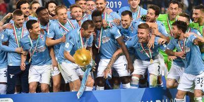 Super Coupe d'Italie à Ritad, Arabie Saoudite, remportée par la Lazio  devant la Juventus (3-1)