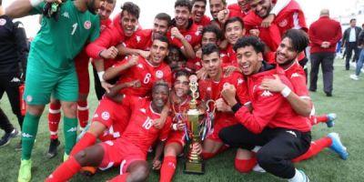 La Tunisie victorieuse du tournoi de l'UNAF U20. 2019
