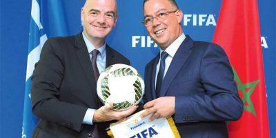 Fouzi Lekjaa peut compter sur le soutien du président de la FIFA,  Gianni Infantino, l
