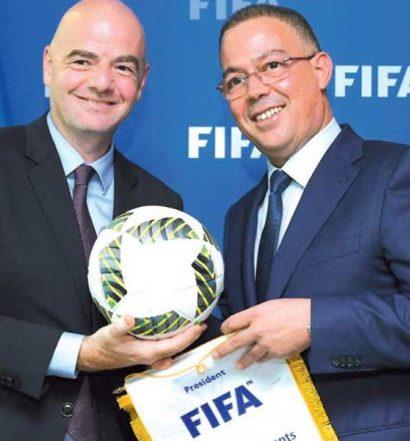 Fouzi Lekjaa, préisident de la FRMF, soutient le projet  de  Gianni Infantino  d'une Coupe du monde tous les deux ans.