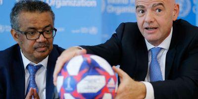 Tedros Adhanom Ghebreyesus / Gianni Infantino ( photo fifa.com)