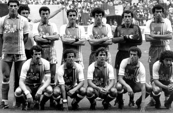 Mehdi Cerbah et l'Algérie victorieux de l'Allemagne champion ne d'Europe 1980