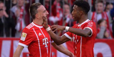 Frank Riby and David Alaba  (Bayern Munich )