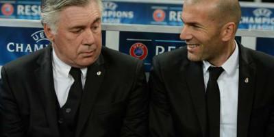 Zizou / Carlo sur le banc du Real