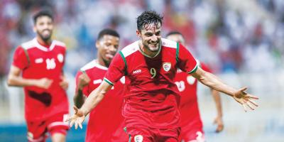 Mondial 2022: Les Omanais après leur succès face à l'Afghanistan   (3-0) le 9 novembre 2019