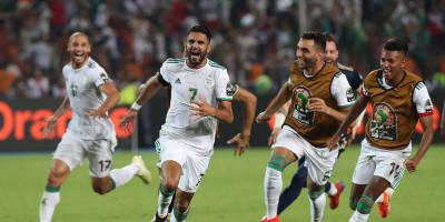 Le bonheur fou de Ryad Mahez après son coup franc transformé face au Nigeria (2-1)