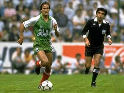 Tombeur de l'Allemagne  avec les Fennecs au Mondial 1982