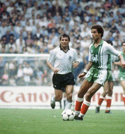 Lakhdar Belloumi bourreau de l'Allemagne le 16 juin 1982 à Gijon