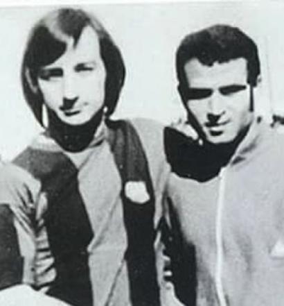 Ahmed Faras et Johan Cruyff en 1974 à Casablanca